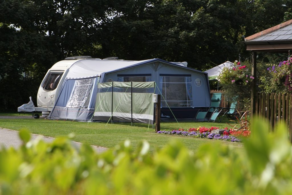 caravan pitches at Monkey Tree Holiday Park Cornwall