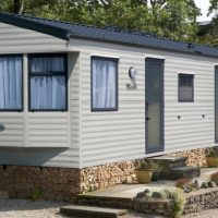 Fistral Holiday Home exterior at Monkey Tree Holiday Park