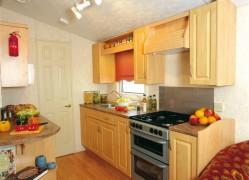 Crantock Holiday Home kitchen serving at Monkey Tree Holiday Park near Newquay