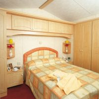 Crantock Holiday Home double bedroom at Monkey Tree Holiday Park near Newquay