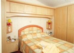 Crantock Holiday Home double bedroom at Monkey Tree Holiday Park near Newquay