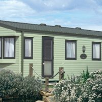 Towan Holiday Home exterior at Monkey Tree Holiday Park near Newquay