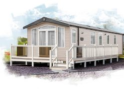 Watergate Holiday Home exterior at Monkey Tree Holiday Park