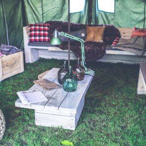 tent campsite interior