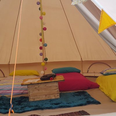 glamping at Party in the Park