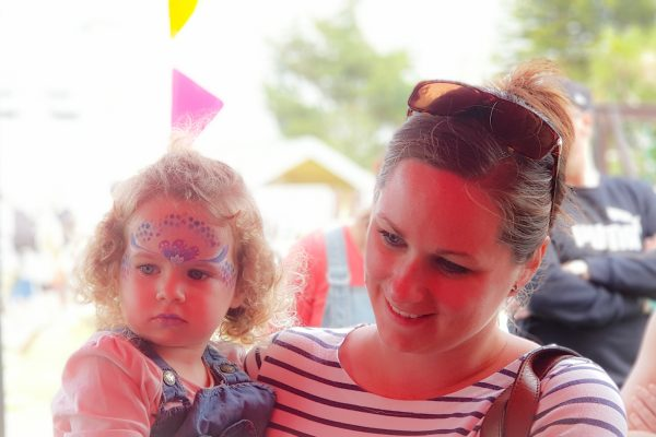 Party in the Park Tribute Festival 2019 face painting