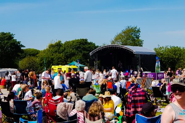 Party in the Park 2019 crowds and stage